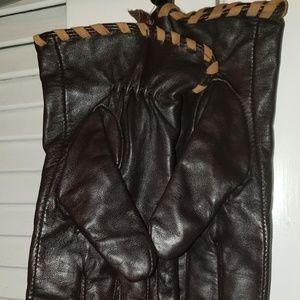 Ralph Lauren Soft Leather Brown Women Gloves